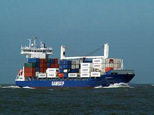 Helgafell IMO 9306017 approaching Port of Rotterdam 29-Mar-2006.jpg