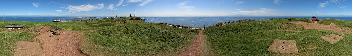 Panoramic view over Heligoland from it´s highest point, the Pinneberg (61.3 m)