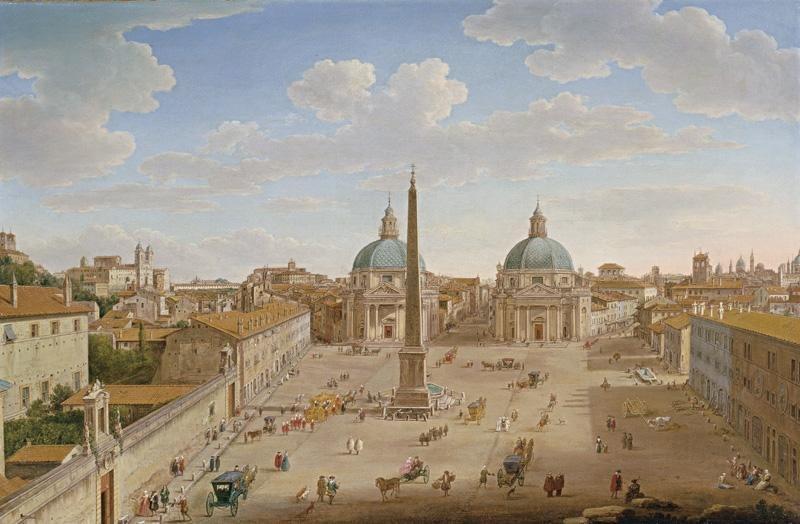 Hendrik Frans van Lint - Roma - Piazza del Popolo - WGA13057