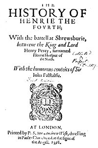 Henry IV 1 title page.jpg