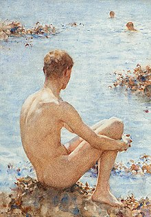 Henry Scott Tuke - A Holiday, 1921.jpg