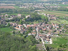 A general view of Hières-sur-Amby