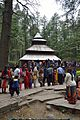 Hidimba Devi Temple with Visitors and Worshippers - Manali 2014-05-11 2638.JPG