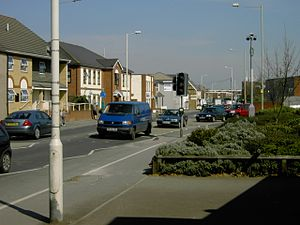 Houghton Regis - Image: High Street Houghton Regis looking North East geograph.org.uk 388933