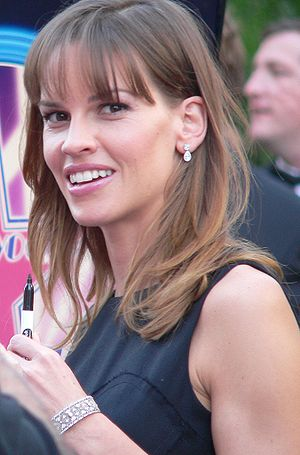 Hilary Swank at the ceremony to receive her st...