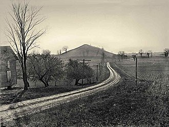 Cumorah - Photograph of the hill by George Edward Anderson, 1907