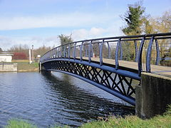 Hilsea Lagoon footbridge.JPG