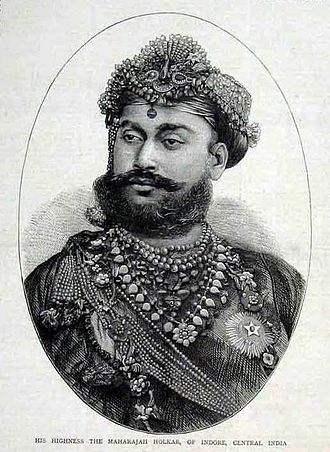 Tukojirao Holkar II - His Highness the Maharajah Holkar of Indore Central India as seen in The Graphic,1874