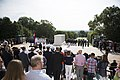 His Majesty King Willem-Alexander and Her Majesty Queen Máxima of the Netherlands lay a wreath at the Tomb of the Unknown Soldier in Arlington National Cemetery (26578935360).jpg
