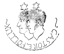 "Hoffmann und Hippel als ""Castor e Pollux"", Federzeichnung Hoffmanns 1803 (Quelle: Wikimedia)"