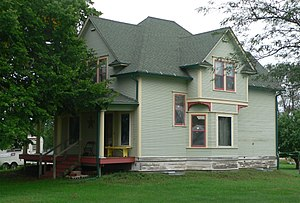 National Register of Historic Places listings in Aurora County, South Dakota - Image: Hofmeister house, White Lake, SD, from NW 1