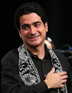 Homayoun Shajarian - Shajarian during a concert in Milad Tower in 2013
