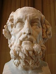 Bust of Homer, a Greek poet