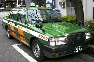 A typical Tokyo taxi