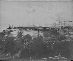 Honolulu Harbor, from Government Building, photograph by Frank Davey (PPWD-9-3-014).jpg