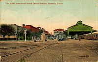 Hotel Brazos and Grand Central Station, Houston, Texas.jpg