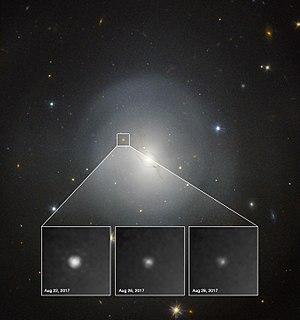 Kilonova - Image: Hubble observes first kilonova