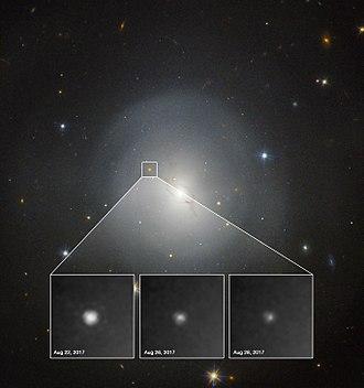 Kilonova - First kilonova observations by the Hubble Space Telescope.