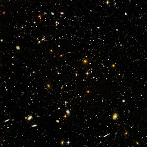 This high resolution image of the HUDF includes galaxies of various ages, sizes, shapes, and colors.