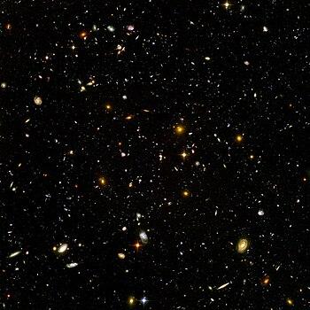 天文台から宇宙の景色