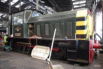 British Rail Class 05 - D2587 as preserved in 2012