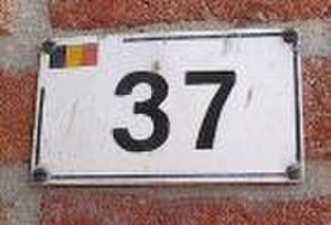 37 (number) - House number in Baarle (in its Belgian part)