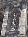 Hungarian State Opera House. Monument ID 695. Four niches are in front of the foyer. Each one has a Muse statue. This is Melpomene (Bela Brestyánszky work). - Budapest District VI. Andrássy Ave 22.JPG