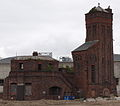 Hydraulic Engine House Bramley Moore Dock Regent Road Liverpool Merseyside UK from SE.jpg