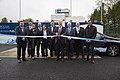 Hydrogen Station opening by Andrew Jones (British politician) MP, Transport Minister at the Department for Transport.jpg