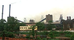IISCO Steel Plant -  The old IISCO Plant as seen from the township
