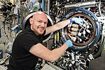 ISS-56 Alexander Gerst works in the Destiny module (4).jpg