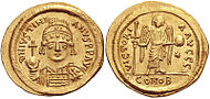 Justinian I's golden coins