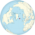 Iceland on the globe (Greenland centered).svg
