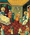 Icon 03031 Rozhdestvo Bogorodicy. Seredina XVII v. Ukraina.jpg