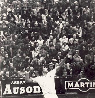 1971 Grand Prix (tennis) - Nastase playing in 1972 Davis Cup Final