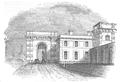Illustrirte Zeitung (1843) 05 004 2 Aeußerer Eingang zu dem Gefängniß.PNG