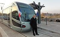 Inauguration de la branche vers Vieux-Condé de la ligne B du tramway de Valenciennes le 13 décembre 2013 (032).JPG