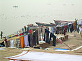 India - Varanasi - 029 - laundry on the ghats (2146284813).jpg