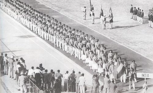 1951 Asian Games - Indian athletes marching into the stadium.
