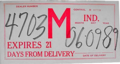 Indiana temporary tag, 1989.png