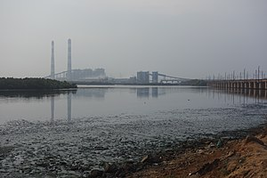 Ennore - Ennore is heavily industrialised by polluting Industries such as coal fired power plants.