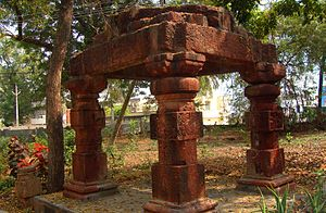 Eluru - There were 25 inscriptions of Vengi Chalukyas found on these pillars of Mandapam at Kotadibba, (Eluru Fort Land)