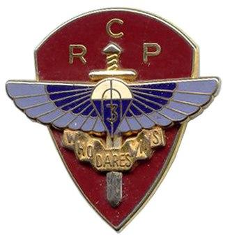 3rd Parachute Chasseur Regiment - Image: Insigne du 3° RCP