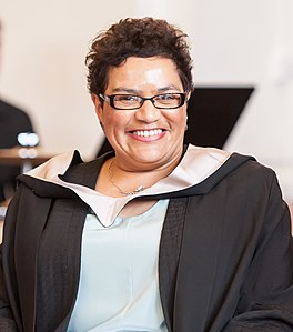 Installation of Chancellor Professor Jackie Kay MBE - University of Salford, Peel Hall (17320850932) (cropped).jpg