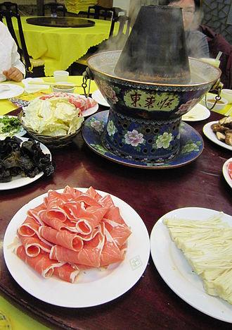 Instant-boiled mutton - Instant-boiled mutton served in Donglaishun, Wangfujing main branch, Beijing