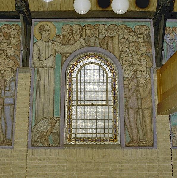 Fichier interieur muurschildering van evangelist johannes for Interieur leiden