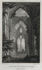 Interior of Tintern Abbey, Monmouthshire