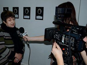Belsat TV - Image: Interview of Belarusian Art critic Larisa Finkelshtein to Belsat TV 03