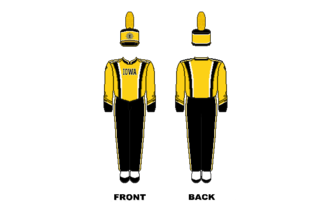Hawkeye Marching Band - Image: Iowa Marching Band Uniform