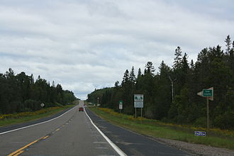 Iron County, Michigan - Entering Iron County on US 2 / US 141